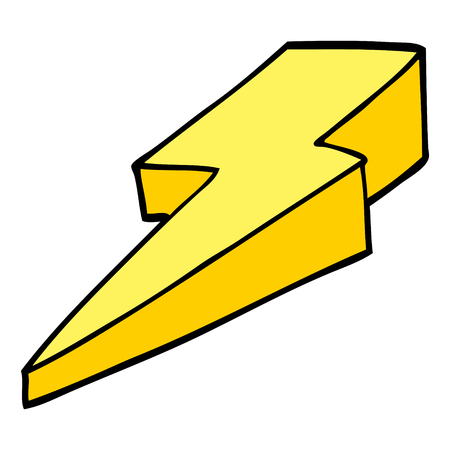 cartoon doodle decorative lightning bolt Illustration
