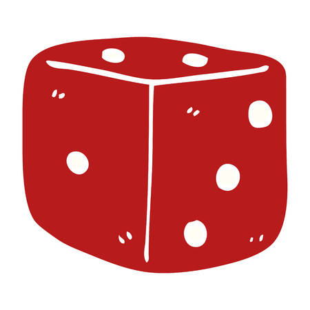 cartoon doodle red dice Stok Fotoğraf - 110772904