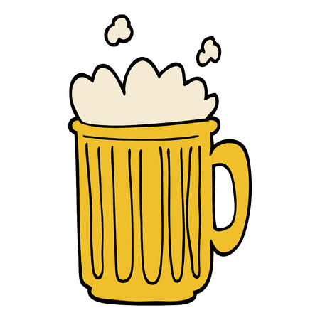cartoon doodle tankard of beer 스톡 콘텐츠 - 110772906