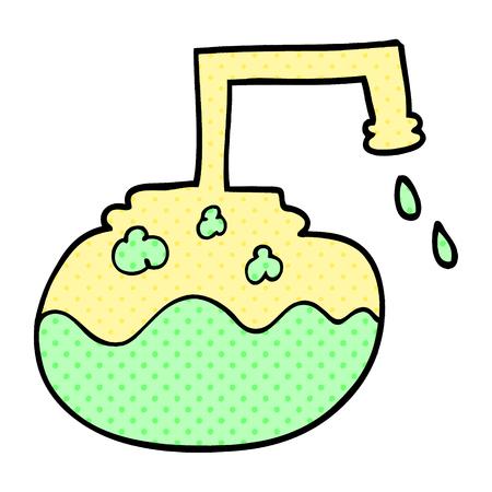 cartoon doodle bubbling chemicals Illustration