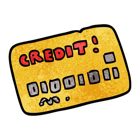 cartoon doodle credit card Illusztráció