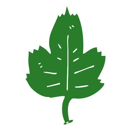 cartoon doodle leaf