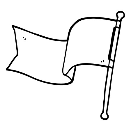 line drawing cartoon flag Foto de archivo - 110772812