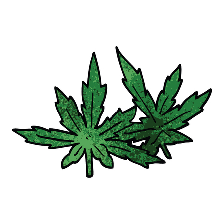 cartoon doodle marijuana leaves