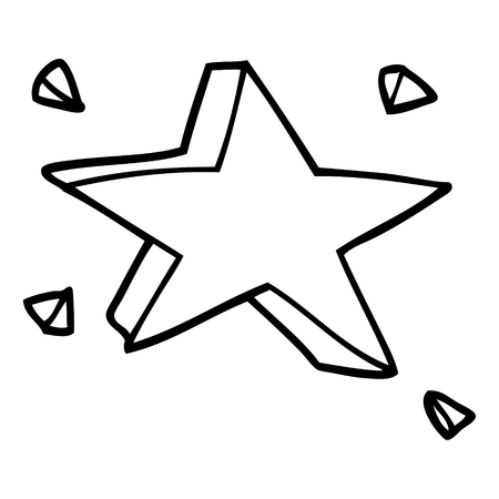 line drawing cartoon star