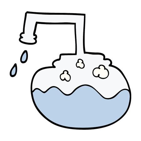 cartoon doodle science experiment