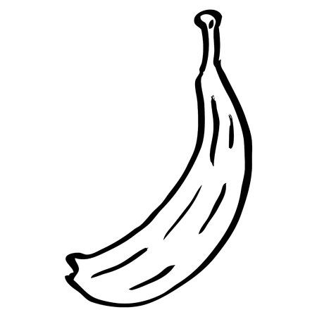 line drawing cartoon banana