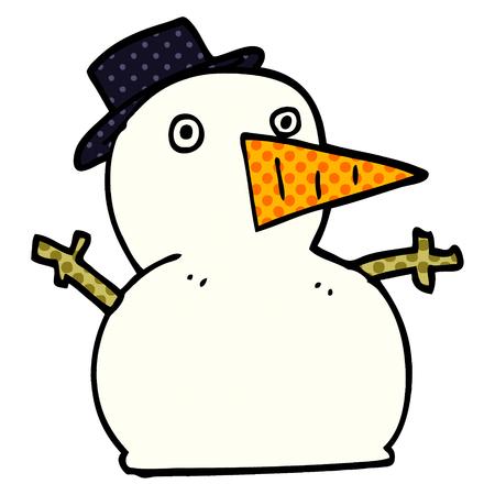 cartoon doodle funny snowman