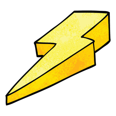cartoon doodle decorative lightning bolt 矢量图像