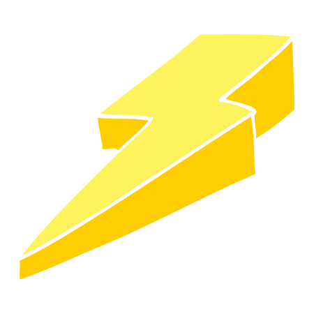 cartoon doodle decorative lightning bolt 向量圖像