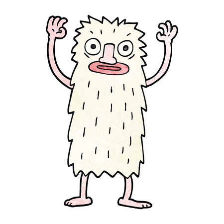 cartoon doodle yeti monster Illustration