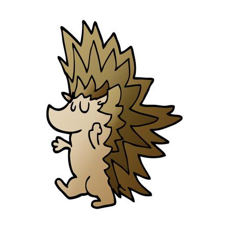cartoon doodle spiky hedgehog