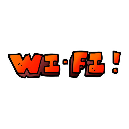 cartoon doodle wifi