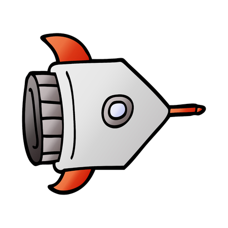 cartoon doodle spaceship Standard-Bild - 110772731