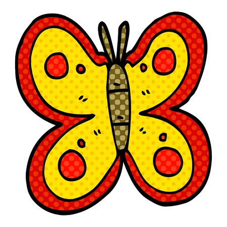 cartoon doodle huge butterfly