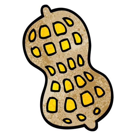 cartoon doodle peanut Illusztráció