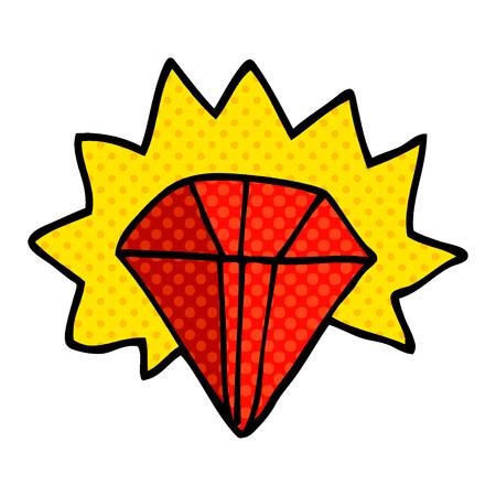 rubis géant de dessin animé doodle