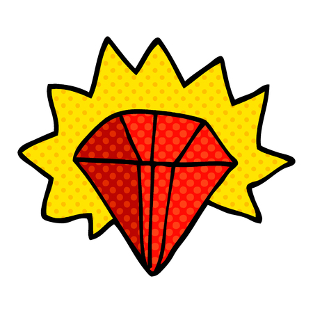 cartoon doodle giant ruby