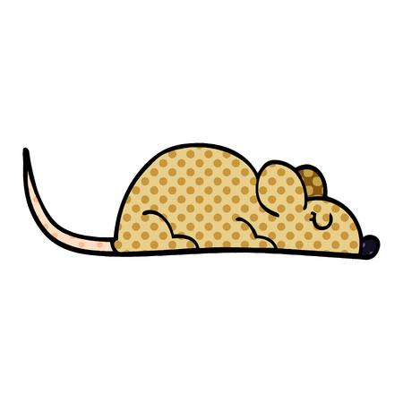 cartoon doodle little mouse Stock Illustratie