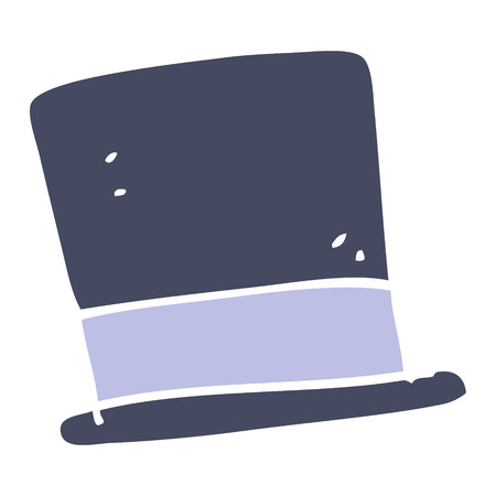 flat color illustration of top hat
