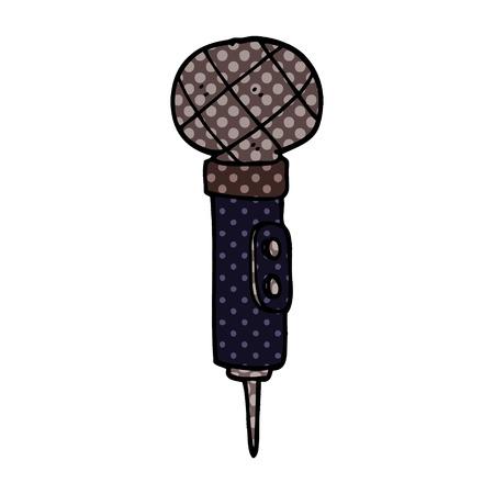 cartoon doodle of a microphone Иллюстрация
