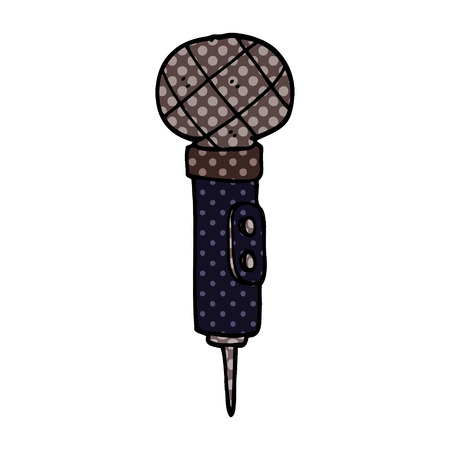 cartoon doodle of a microphone Illustration