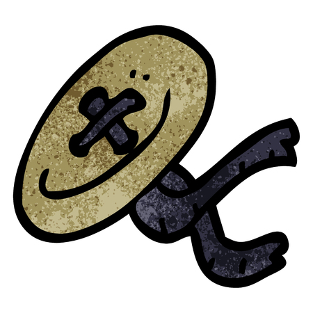 cartoon doodle button