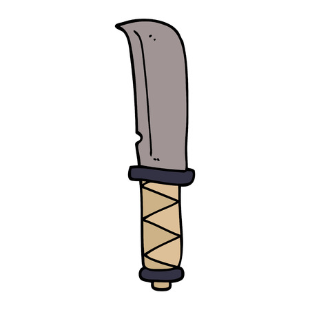 cartoon doodle of a knife Иллюстрация