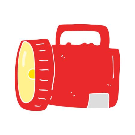 flat color illustration of torch Illusztráció