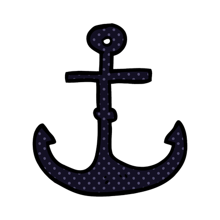 cartoon doodle ship anchor