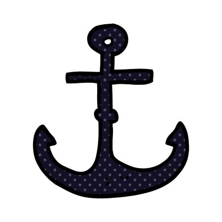 cartoon doodle ship anchor