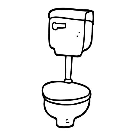 line drawing cartoon golden toilet Illustration