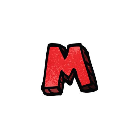 cartoon doodle letter m Ilustrace