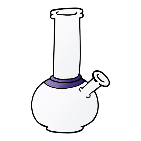 cartoon doodle bong Illustration