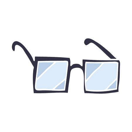 cartoon doodle square spectacles