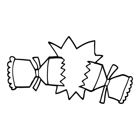 line drawing cartoon cracking cracker