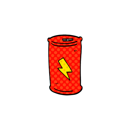 cartoon doodle electric battery