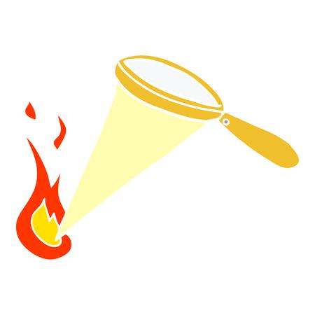 cartoon doodle magnifying glass Иллюстрация
