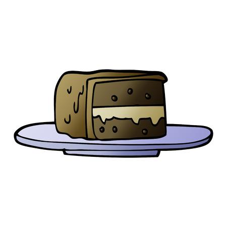 cartoon doodle slice of cake