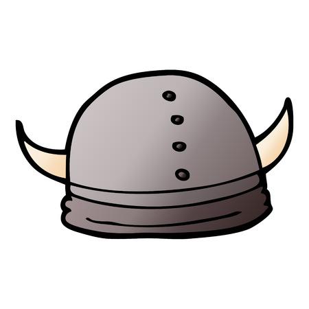 cartoon doodle viking helmet
