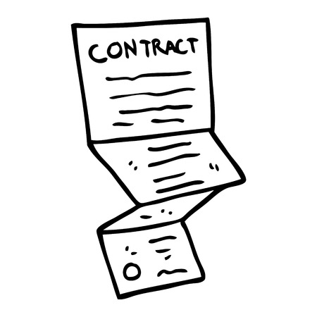 line drawing cartoon long contract