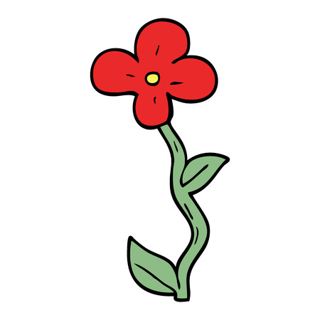 cartoon doodle flower Reklamní fotografie - 110852869