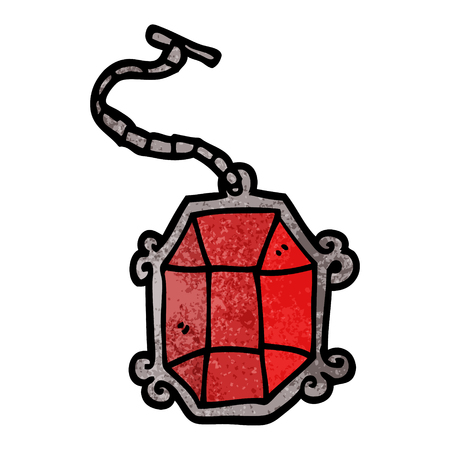cartoon doodle ruby pendant Иллюстрация