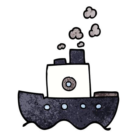 cartoon doodle steam boat Foto de archivo - 110791068