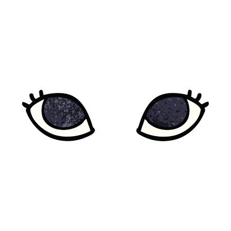 cartoon doodle grey eyes 스톡 콘텐츠 - 110852974