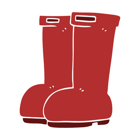 cartoon doodle red wellies