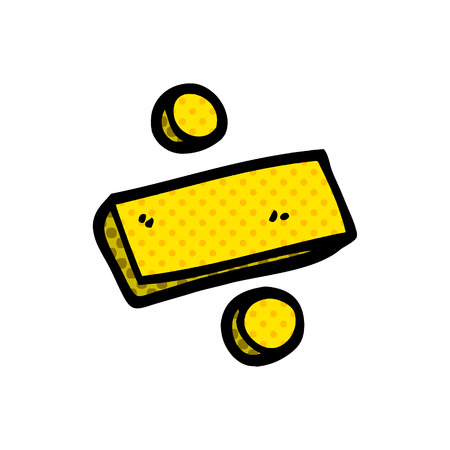 simbolo di divisione scarabocchio dei cartoni animati Vettoriali
