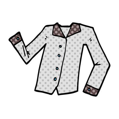 cartoon doodle work shirt Standard-Bild - 110853117