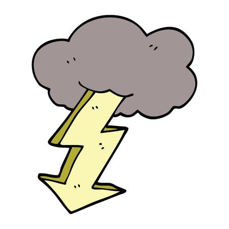 cartoon doodle lightning bolt