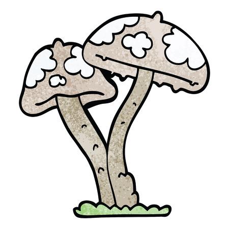cartoon doodle mushroom